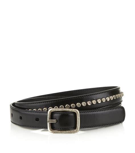 laurent studded leather belt in black lyst