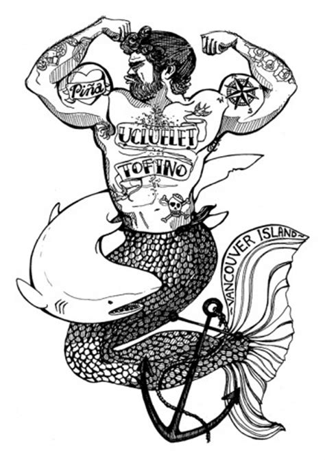 merman tattoo drawings pi 241 a
