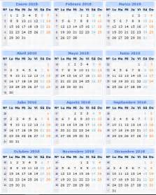 Calendario 2018 Descargar Descargar E Imprimir El Calendario 2018