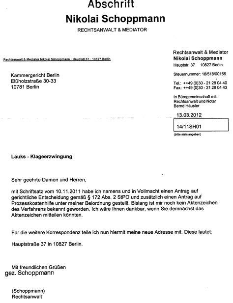 Juristisches Schreiben Muster 2bvr 1338 12 Verfassungsbeschwerde Vom 15 6 2012 Wurde