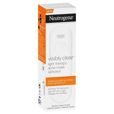 light therapy acne mask activator buy neutrogena light therapy acne mask activator 30
