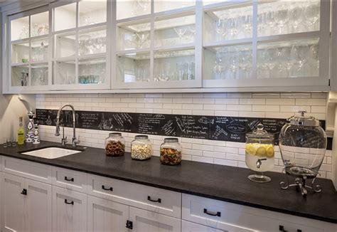 Chalkboard Kitchen Backsplash - family home with beautiful interiors home bunch