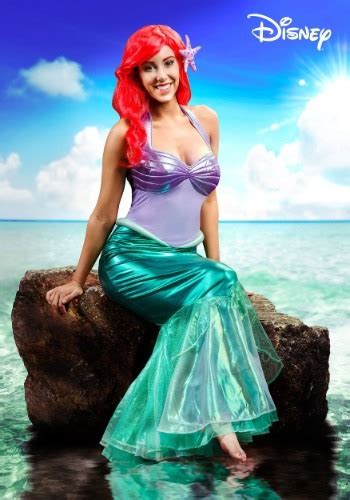 mermaid disney ariel deluxe adult costume