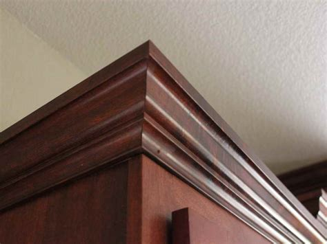 how to repair how to cut crown molding for cabinets