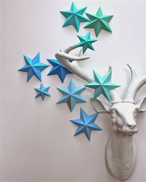 wonderful diy 3d paper lucky star