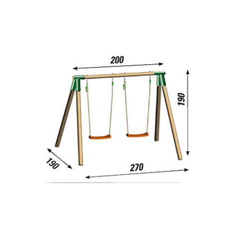 altalena da giardino per bambini altalena maica in legno da giardino per bambini a 2 posti