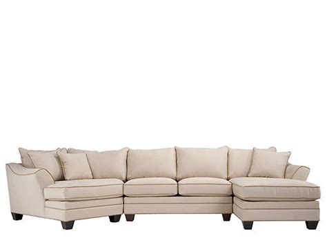 foresthill sectional foresthill 3 pc microfiber sectional sofa light taupe
