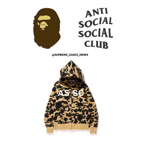 Tees Anti Social Social Club Tag Assc Bape Lv Suprime Vape bape 215 anti social social clubのコラボアイテムが5 13に発売予定 国内販売無し