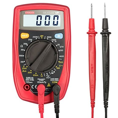 how to test a diode with a ohm meter etekcity msr r500 digital multimeter electronic volt ohm meter with diode and continuity