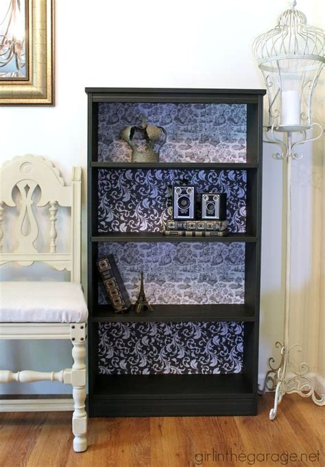 Decoupage Shelves - decoupage bookcase themed furniture makeover decoupage