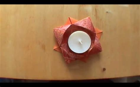 How To Make A Paper Lighter - how to make an origami candle holder falte dir deinen