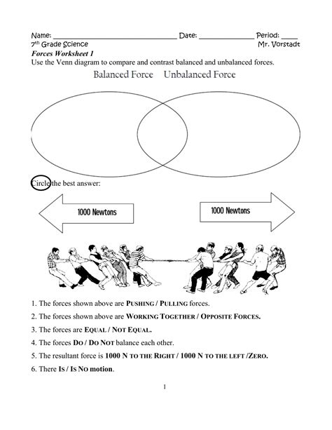 Motion Diagram Worksheet by Worksheets 7th Grade Science Forces Worksheets Best Free