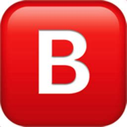 b button (blood type) emoji (u+1f171, u+fe0f)