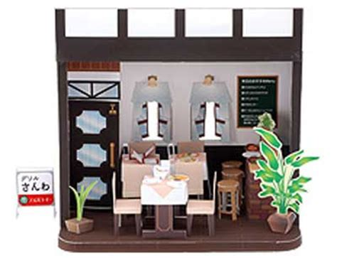 paper doll house template best photos of restaurant building paper restaurant paper model buildings free