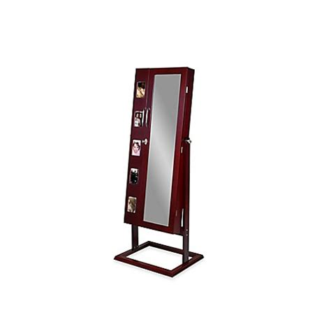 mirror jewelry armoire bed bath and beyond baxton studio vittoria standing jewelry armoire bed bath