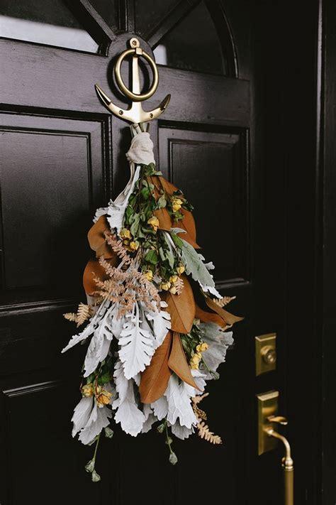 modern door swag tutorial halloween door decorations
