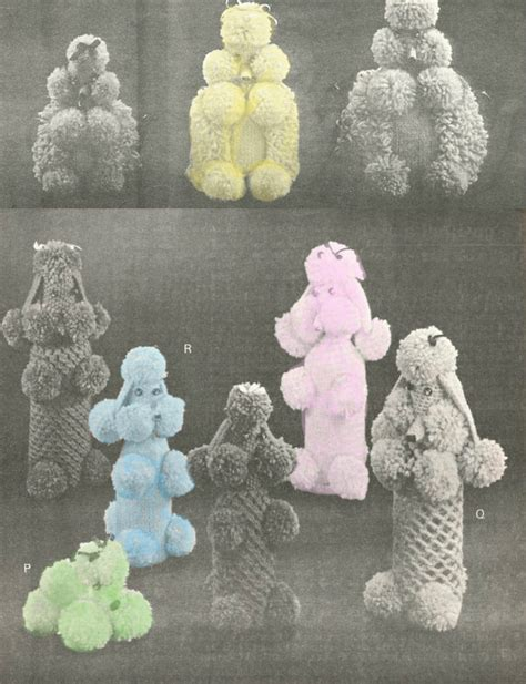 yarn poodle pattern 1950s poodles for everyone knitted poodle covers vintage