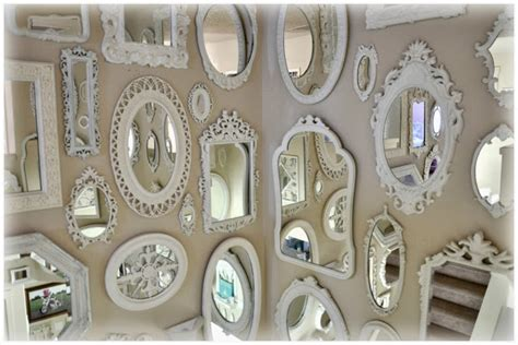 wall of mirrors not so shabby shabby chic mirror wall is almost