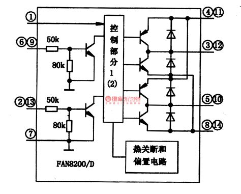 integrated circuit parts fan8200 fan820od a motor driven integrated circuit signal processing circuit diagram