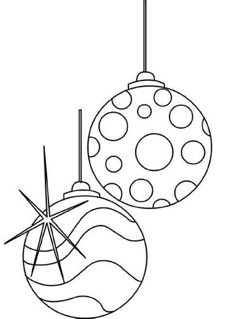 free printable christmas decorations to colour christmas decorations coloring pages balls ornaments id