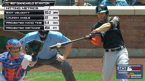 giancarlo stanton hits 200th career home run mlb