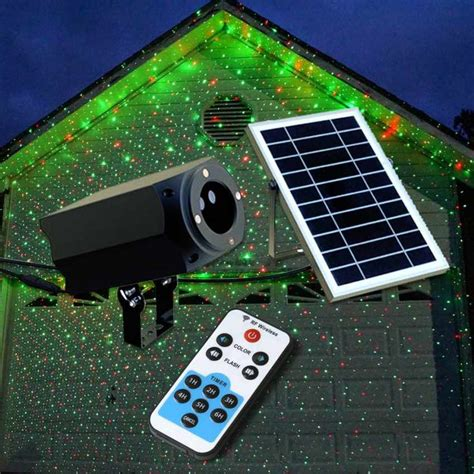 solar lights with remote solar panel projector led laser with remote and solar panel