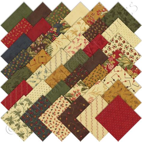 Moda Quilts by Moda Castlewood Charm Pack Emerald City Fabrics