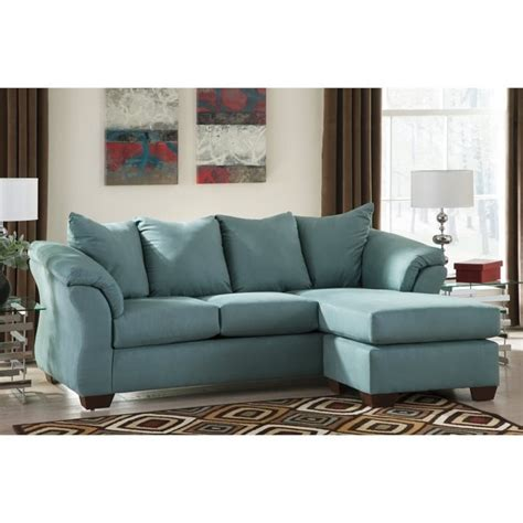 ashley darcy sectional ashley darcy fabric 2 piece chaise sofa in sky 7500618