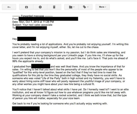 bad cover letters the worst cover letter written literally hire daily