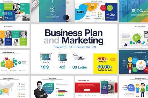Business Plan Marketing Powerpoint Presentation Templates Creative Market Business Presentation Ppt
