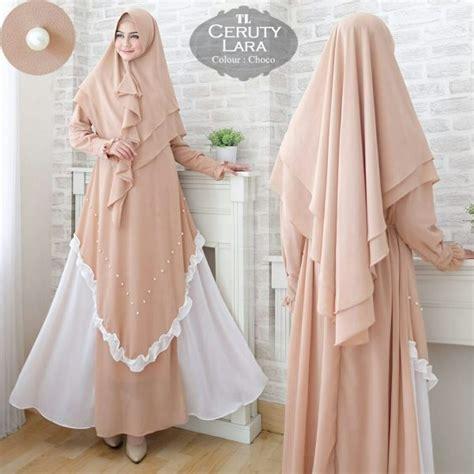 baju gamis ceruty lara busana muslim modern butik jingga