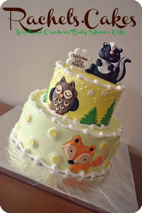 woodland themed baby shower cake baby shower cakes woodland baby shower cake ideas