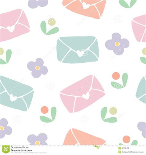 love pattern background vector seamless pattern background of love letter and flower