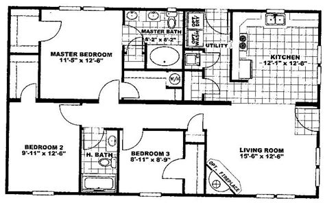 Norris Series 1100 Sf House Plans