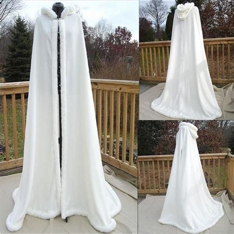 floor length hooded cape pattern new collection custom made bridal faux fur cloak hooded