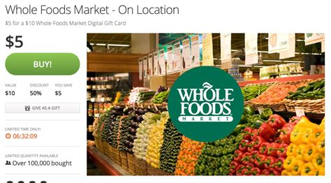 Whole Foods Gift Card Promotion - free 5 whole foods market gift card points miles martinis
