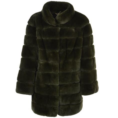 rex rabbit fur coat green danier