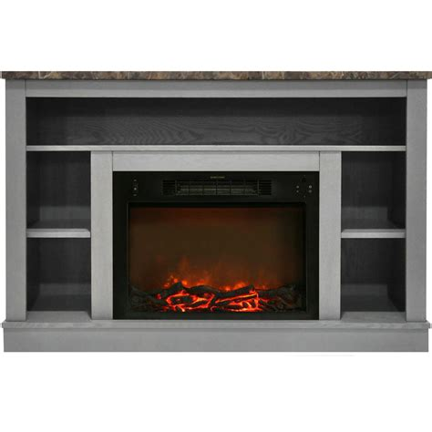 gray fireplace home decorators collection highland 50 in faux