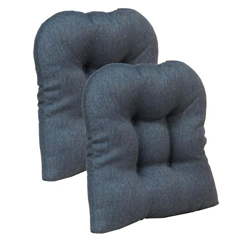 non tufted chair cushions gripper non slip 15 quot x 15 quot stoked blue tufted universal