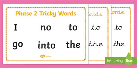 phase 2 word mat middle east phase 2 tricky words word mat literacy phonics