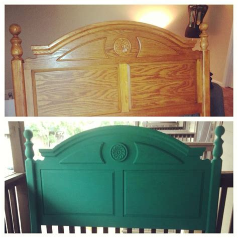 How To Paint A Bed by Painted Headboard Sloan Chalk Paint Turquoise
