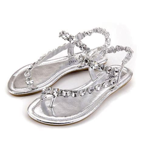 silver sparkly sandals buy glitter rhinestone flip flops flat sandals