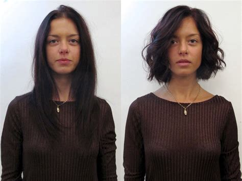 wavy long bob before and after pic see before after hairstyles from the lounge soho