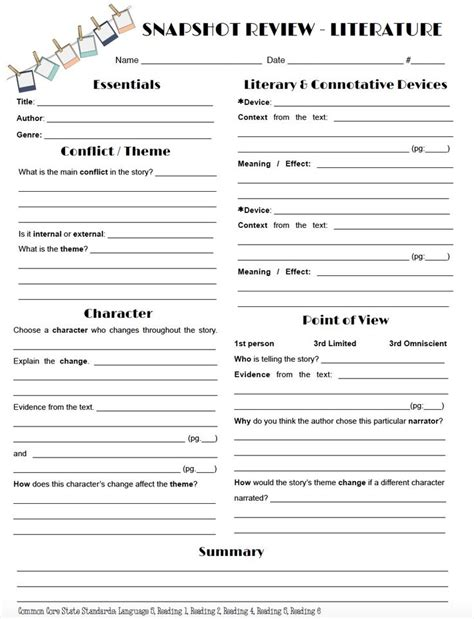 identifying themes in literature worksheets 186 best images about classroom things on pinterest