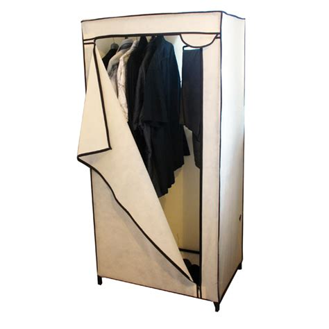 Canvas Wardrobe Assembly by Wardrobe Canvas Bedroom Student Spare Room Hanging Rail