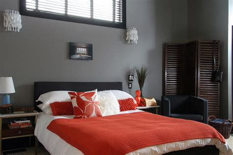 gray black and red bedroom color scheme kitchen awesome gray bedroom orange and gray wall art