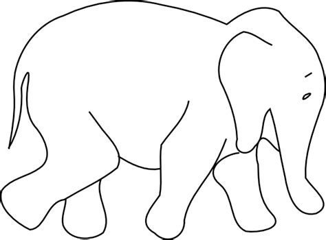elephant animal outline clip at clker vector