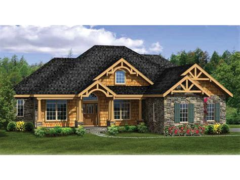 house plans with walkout basement at back craftsman ranch with finished walkout basement hwbdo76439