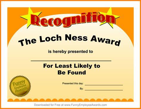 4 funny award certificate template park attendant