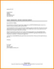 Resign Letter For Company by 4 Resignation Letter Company Blank Budget Sheet